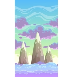 Cartoon vertical cloudscape vector