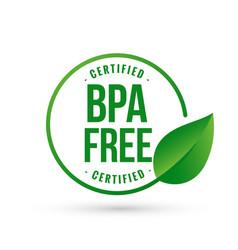 Certified bpa bisphenol free icon logo symbol vector