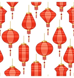Chinese New Year seamless pattern with lanterns vector
