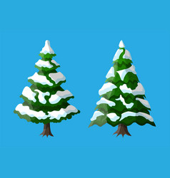 Christmas tree covered with snow vector