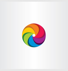 colorful circle logo business sign tech element vector image