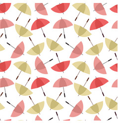 colorful umbrellas seamless background pattern vector image