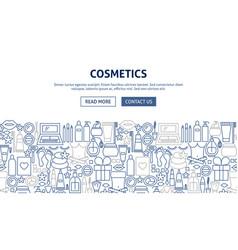 Cosmetics banner design vector