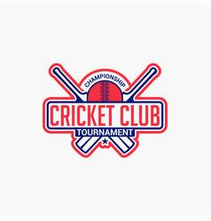 Cricket club badge logo-5 vector