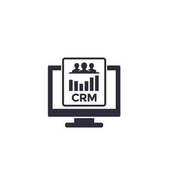 Crm system software icon vector