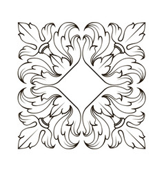 Decorative ornament with lily flower of page vector