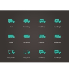 Delivery Service icons vector image
