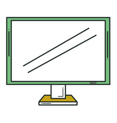 Display monitor isolated icon vector