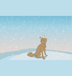 dog sitting outdoors vector image