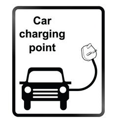 Electric Car Information Sign vector