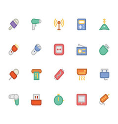 Electronics colored icons 11 vector