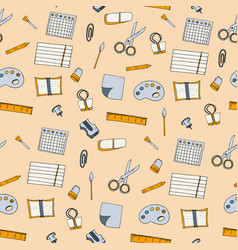elements school supplies vector image