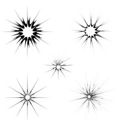 Explode Flash Cartoon Explosion Burst Set vector image