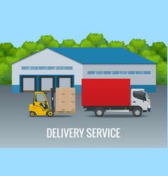 express delivery service flat design modern vector image