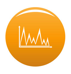 finance graph icon orange vector image