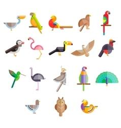 Flat design birds icon vector