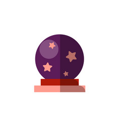 Flat magic ball spiritual vector
