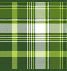 green tartan pixel check plaid seamless pattern vector image