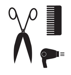 Hairstyle icon on white background barber sign vector