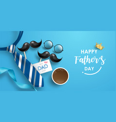 Happy fathers day background or banner vector