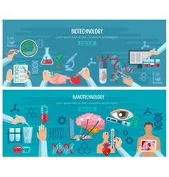 Horizontal Biotechnology And Nanotechnology vector image