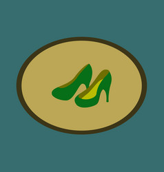 icon in flat design fashion footwear women high vector image