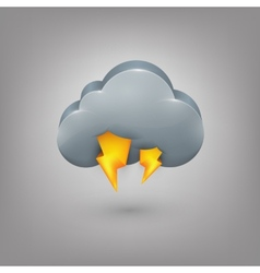 Icon weather Cloud lightning vector