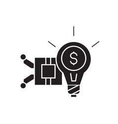 Idea generation black concept icon idea vector