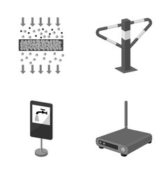 Internet facility equipment and other monochrome vector