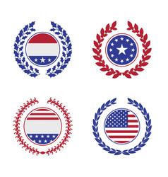 Laurel wreath with american symbols vector