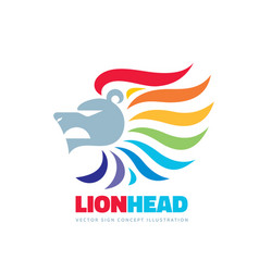 Lion head - logo template concept vector