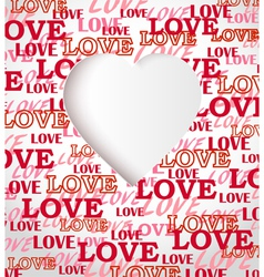 Love texture greeting card vector