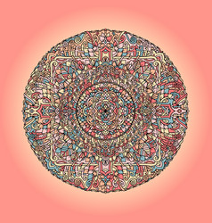 mandala pattern on pink background vector image