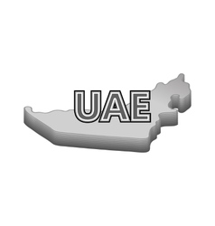 Map of UAE icon black monochrome style vector image