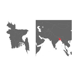 Map with location vector