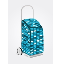 Modern disco shopping trolley bag vector