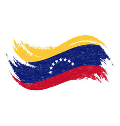 National flag of venezuela designed using brush vector