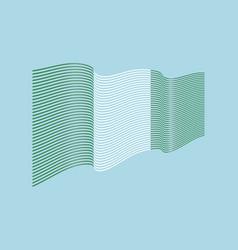 nigeria flag on blue background wave strip vector image