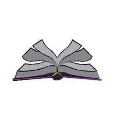 Open book with pages cover education vector