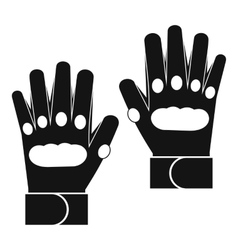 Pair of paintball gloves icon simple style vector