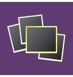 Paper Photo Frames vector