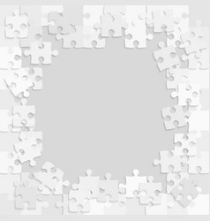 Pieces puzzle jigsaw frame background or banner vector