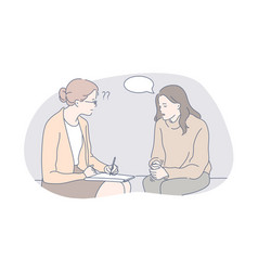 Psychology communication depression speech vector