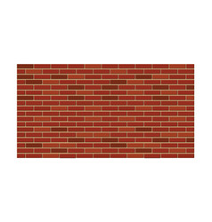 red brick wall construction and building element vector image