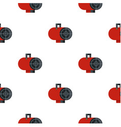 Red industrial electric fan heater pattern vector