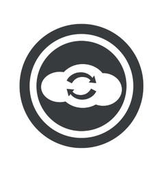 Round black cloud exchange sign vector