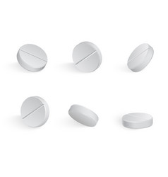 round white medical tamblets in different vector image
