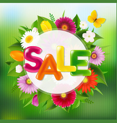 Sale poster with color text vector