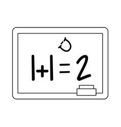 school blackboard cartoon isolated black and white vector image
