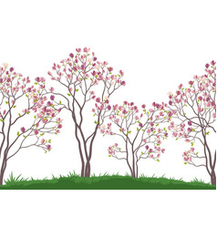 seamless background autumn trees vector image